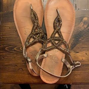 Used strappy sandals